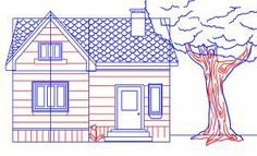 how to draw a house step 6