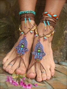 Hamsa sandals. I dont know what these are...but I want them.