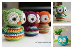 Here are a couple of owl free crochet pattern. These are super cute amigurumi owls, especially the one with their big sleepy eyes. Crochet Pillow Patterns Free, Crochet Bookmark Pattern, Crochet Flower Patterns, Crochet Patterns Amigurumi, Free Pattern, Owl Patterns, Crochet Owls, Crochet For Kids, Crochet Baby
