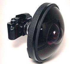 With a field of view of 220º — this rare Nikkon lens can see behind itself; for a mere $160,000
