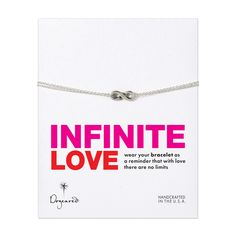 infinite love bracelet, sterling silver