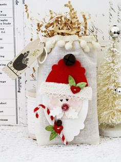 Melissa Phillips Etsy Listing is for 3 Santa Bags, an I Carry Your Heart, and You Will Forever tag