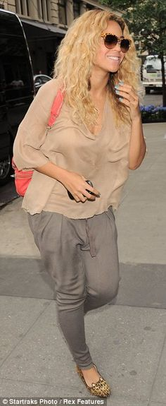 Beyonce- I love the little cat shoes, and the sunnies and the colour pop bag