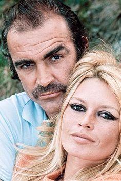 Portraits of Sean Connery and Brigitte Bardot