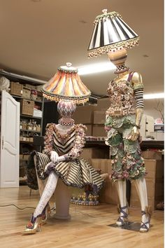 Home furnishings company MacKenzie-Childs is known for their unique whimsical designs. Now they are applying their skills to mannequins. Since MacKenzie-C Funky Furniture, Painted Furniture, Plywood Furniture, Furniture Design, Art Mannequin, Mannequin Display, Diy Lampe, Mckenzie And Childs, Store Displays