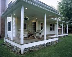 Image result for porch skirting stone
