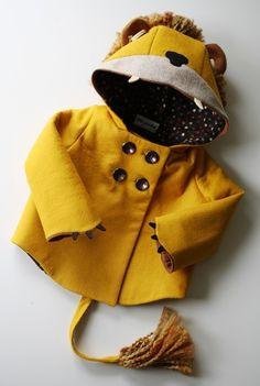Felt Lion Coat by littlegoodall on Etsy.  I wish it wasn't so expensive but it's so cute!