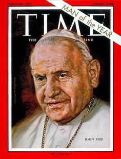 1962 TIME Magazine Cover  Person of the Year - Pope John XXIII.  Pope of the Catholic Church and ruled the Vatican City from 1958 until his death in 1963.  He made various efforts during the Holocaust to save refugees, mostly Jewish people, from the Nazis.  On 7 September 2000, the International Raoul Wallenberg Foundation launched the International Campaign for the Acknowledgement of the humanitarian actions undertaken by Pope John Paul for people persecuted by the Nazi regime.
