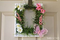 Photos aren't the only reason to use frames! This wreath is as pretty as a picture, made with a frame as its base.