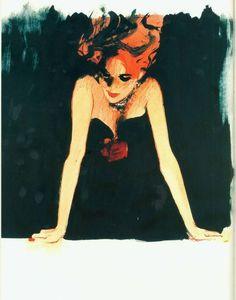 Redhead painting by Rene Gruau