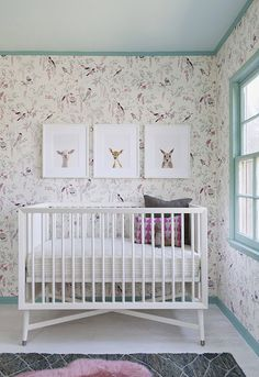 Bird Wallpaper Animal Prints And Simple White Crib Project Nursery Inspiration