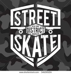 Skate sport  typography, t-shirt graphics, vectors