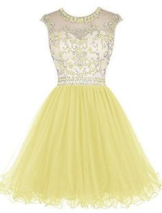 Charming Homecoming Dress,Tulle Homecoming Dress,Beading Graduation Dress,O-Neck Short Prom Dress Hd020
