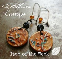 The Tangerine Wildflower earrings are one of my best sellers - everyone loves a little pop of color to add some cheer to their day
