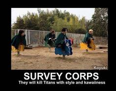 WITH THE POWER OF KAWAII, WE WILL KILL ALL THE TITANS