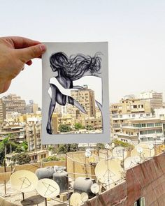 Artist Completes His Cut-Out Clothing Designs With Architecture and Natural…
