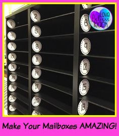 FREE Mailbox number labels to help your mailboxes look AMAZING! You can use them for more than just mailboxes, too. Print, punch out with a circle puncher, laminate them if you want, and stick them on with painter's tape (it removes with almost no residue). Love Believe Teach with Jo-Ellen Foody