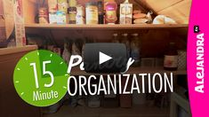 In this organization video I show you that organizing the pantry can be quick and easy! We tackle organizing the messy pantry in just 15 minutes! Pantry Organisation, Spice Organization, Organizing Ideas, Dollar Tree Organization, Be Organized, Shelf Arrangement, Storage Solutions, Storage Ideas, Organizer