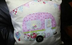Caravan applique cushion