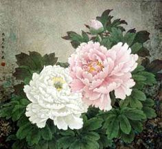 chinese peony painting idea for invitation