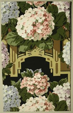 French wallpaper. 1928-29