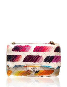 CHANEL Signature Brush Stroke Canvas Shoulder Bag