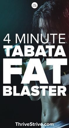 Want to burn fat fast? Then you should check out Tabata. It's a great workout concept that helps you lose weight, burn belly fat, and do it all in a short period of time. Here is a great 4 minute tabata workout.