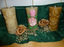 Rose Pillar Candles