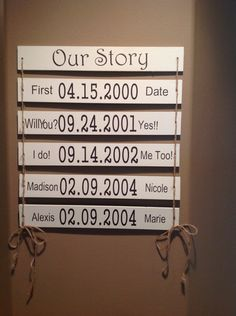 Our Story Wooden Sign by AnnViolet26 on Etsy https://www.etsy.com/listing/205137010/our-story-wooden-sign