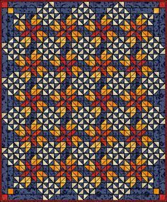 Four Winds Quilt Star Quilt Blocks, Quilt Block Patterns, Pattern Blocks, Quilting Tutorials, Quilting Projects, Bed Quilt Sizes, Quilt Bedding, Baby Quilts, Throw Pillows