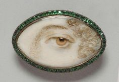 Portrait of a Woman's Left Eye - England (Philadelphia Museum of Art: Gift of Mrs. Charles Francis Griffith in memory of Dr. Eye Jewelry, Enamel Jewelry, Antique Jewelry, Vintage Jewelry, Jewlery, Lovers Eyes, Miniature Portraits, Mourning Jewelry, Philadelphia Museum Of Art