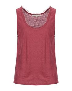 Jersey Fringe Solid color Round collar Sleeveless No pockets Small sized Vanessa Bruno, Round Collar, World Of Fashion, Luxury Branding, Pockets, Clothes For Women, Tank Tops, Red, Converse