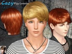 Male Hair: Cazy Hair 59 - The Sims 3 Custom Content