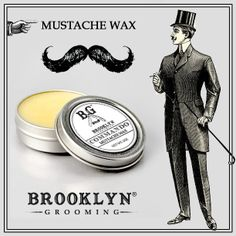 Brooklyn Grooming Mustache Wax. There is no end to the geometric, architectural and sculptural possibilities when you've got some facial hair and a tin of Brooklyn Grooming Mustache Wax. #mustachewax #brooklyngrooming #whiskers #williamsburg