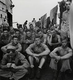 The Stare, Second Marines Division, WWII by Peter Stackpole from Etherton Gallery