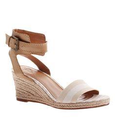 MADELiNE Beige Skate Wedge Sandal | zulily