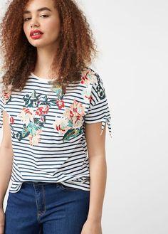 T-shirt à rayures en coton