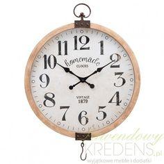 Oryginalny, duży zegar loftowy z ciekawymi, metalowymi zdobnikami to kolejna nietypowa propozycja od marki Clayre & Eef