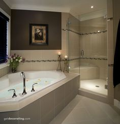 Dream Bathrooms 17099673573989749 - We all dream of huge bathtubs like this. Throw in a large shower with a shower seat and you have the luxurious spa you have always wanted in your master bathroom. Luxury Master Bathrooms, Dream Bathrooms, Beautiful Bathrooms, Master Baths, Master Bedrooms, Small Bathrooms, Bedroom Decor Master For Couples, Basement Master Bedroom, Master Bedroom Plans