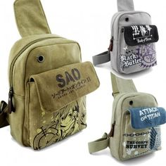 Sword Art Online Unbalanced Backpack Shoulder Sling Bag