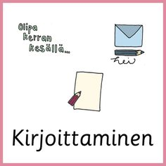 Materiaali - Värinautit Learn Finnish, Writing, Learning, Studying, Teaching, Education, A Letter, Writing Process