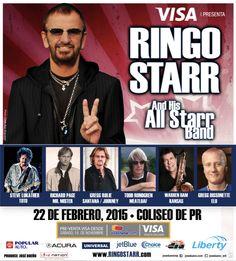 Ringo Starr & His All Star Band @ Coliseo de Puerto Rico, Hato Rey #sondeaquipr #ringostarr #allstarband #coliseopr #choliseo #hatorey #sanjuan
