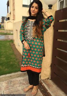mawra hocane.love the colors of her suit