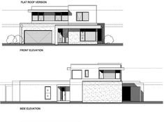 This modern design floor plan is 2885 sq ft and has 4 bedrooms and has bathrooms. Architecture Drawing Plan, Architecture Concept Diagram, Facade Architecture, Modern House Facades, Modern House Design, Architectural Floor Plans, Building Elevation, Facade House, Photoshop