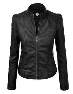 WJC746 Womens Vegan Leather Motorcycle Jacket L Black Loc... https://www.amazon.com/dp/B00R6IBG6Q/ref=cm_sw_r_pi_dp_U_x_sKFeBbKP0ZPN5