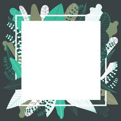 Tropical background with white frame. Framed Wallpaper, Paper Wallpaper, Wallpaper Quotes, Wallpaper Backgrounds, Iphone Wallpaper, Phone Backgrounds, Background Ppt, Background Design Vector, Watercolor Background