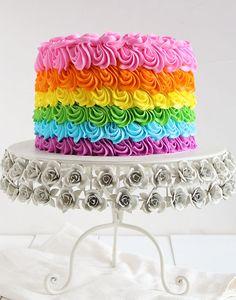 Swirly Rainbow Cake