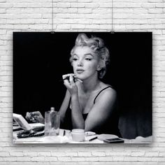 Marilyn Monroe, Elegant Photograph, Applying Make-Up in Front of Mirror, Photography Poster by wallsthatinspire on Etsy https://www.etsy.com/listing/152872610/marilyn-monroe-elegant-photograph