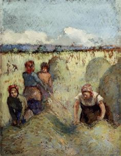 Page: Haymaking Artist: Camille Pissarro Completion Date: c.1895 Style: Impressionism Genre: genre painting Gallery: Private Collection