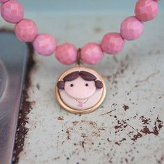 creme de la gems little girl necklace $35